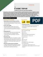 GPCDOC Local TDS United Kingdom Shell Spirax S6 AXME 75W-90 (en-GB) TDS