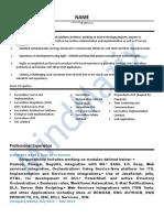 ServiceNow Sample Resume 1