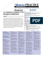 Evidence-Based Management of Potassium Disorders in the Emergency Department