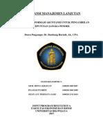 Penggunaan Informasi Akuntansi Untuk Pengambilan Keputusan Jangka Pendek