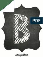 Printable Chalkboard Letter B
