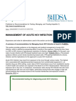 Recommendations for Testing, Managing, And Treating Hepatitis C - MANAGEMENT of ACUTE HCV INFECTION - 2015-06-29