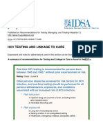 Recommendations for Testing, Managing, And Treating Hepatitis C - HCV TESTING and LINKAGE to CARE - 2015-06-29