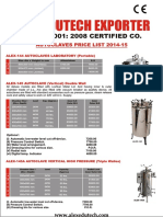 Alex Autoclaves Price List. D