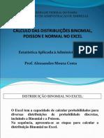 Cálculo Distribuição Binomial, Poisson e Normal No Excel