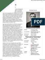 Abraham Lincoln – Wikipédia, A Enciclopédia Livre