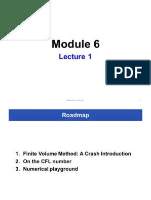 Module 6 - Lecture 1 1