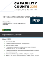 Cmmi Lessons Learned