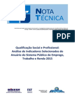 DIEESE.QualificacaoSocialProfissional