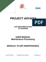 Plant Maintenance Processing(IIT)