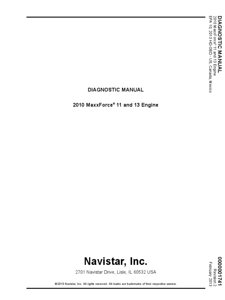 2010 maxforce11-13 enginediagnostics pdf | Diesel Engine