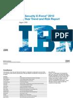 IBM X-Force Vulnerability Threats 1H2010