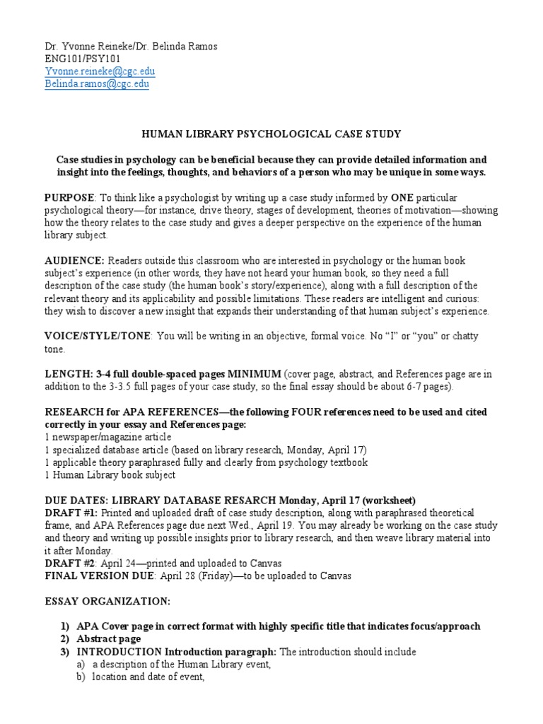 Psychology case study essays education writer services