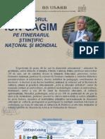 Profesorul Ion Gagim pe itinerarul ştiinţific naţional şi mondial