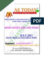 Iastoday July Compilations