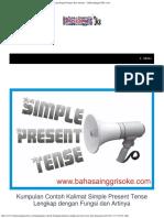 Kumpulan Contoh Kalimat Simple Present Tense Lengkap Dengan Fungsi Dan Artinya