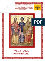 St Nicholas Albanian Orthodox Church - Bulletin Sun 171029