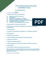 Guia Para El Proyecto de Planta Industrial.
