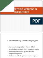Infant Feeding Methods in Emergencies