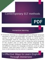 Contemporary ELT Methods