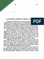 Elena Ódena - La Posición Leninista Sobre La Unidad