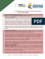 Ley 1755 de 2015 Derechos de Petición