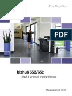 Brochure Bizhub 552 652 3