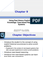 Chapter 09 Using Past History Explicitly as Knowledge Case-based Reasoning Systems