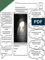 analysing photo sheet