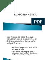DRAINASE 6-EVAPOTRANSPIRASI