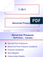 Abnormal Pressure - Drilling Operations