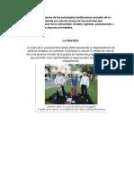 Investigación Acerca de Las Principales Instituciones Sociales de Su Comunidad y Reportar Por Escrito Acerca de Las Acciones Que Desarrollan a Favor de La Comunidad