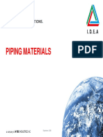Piping - Materials
