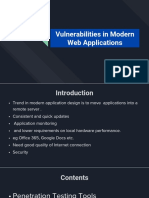 Vulnerabilities in Modern Web Applications