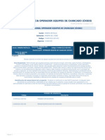 Perfil Competencia Operador Equipos de Chancado (Oxido)