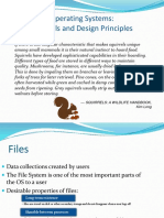 Lecture 9 Operating Systems File Management