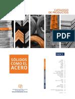 Catalogo_productos Completo Tabla de Pesos de Aceros Tepozotlan