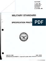 Military Standard Specification Practices