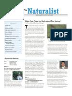 March-April 2010 Naturalist Newsletter Houston Audubon Society