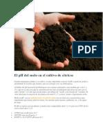 El PH Del Suelo en El Cultivo de Cítricos