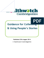 Peoples Stories Guidance