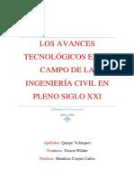Los Avances Tecnológicos en El Campo de La Ingeniería Civil en Pleno Siglo XXI