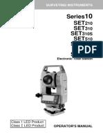 Set 10 Series Operators Manual - 4th Ed 0