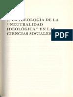 Sc3a1nchez Vc3a1zquez Adolfo La Ideologc3ada de La Neutralidad Ideolc3b3gica