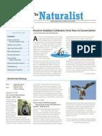 September-October 2009 Naturalist Newsletter Houston Audubon Society