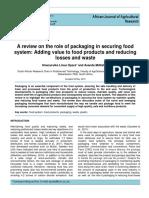 Una Revision Sobre El Papel Del Empaque en El Aseguramiento de Un Sistema Alimentario Agregando Valor a Los Productos Alimenticios y Reduciendo Perdidas y Desperdicios