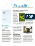 September-October 2010 Naturalist Newsletter Houston Audubon Society
