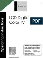 KDL40v5100 Operating