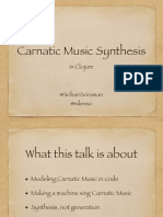 Carnatic Music Synthesis
