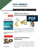 QGIS Criar Fei Es Com Azimutes e Dist Ncias Anderson Medeiros